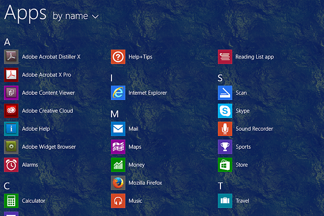 Windows Apps Screen