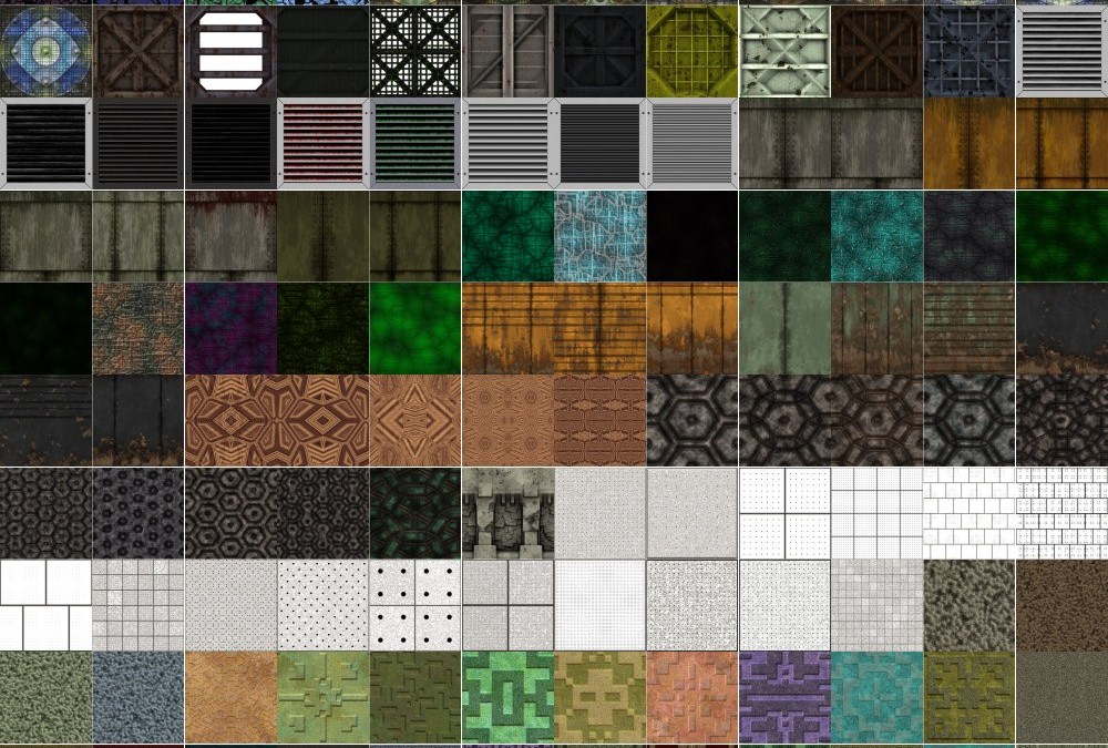Seamless Textures to Cover Both Floors and Walls