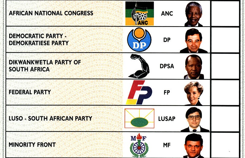 Authentic Nelson Mandela Ballot from 1994 South Africa election
