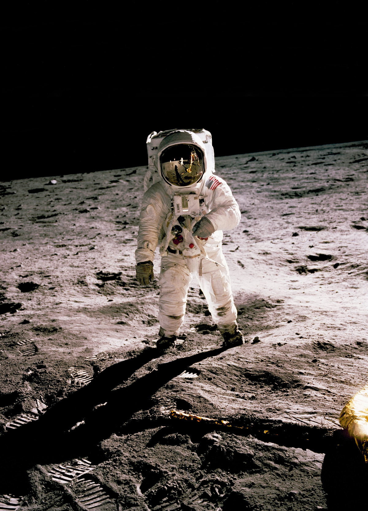 Buzz Aldrin Apollo 11 on moon