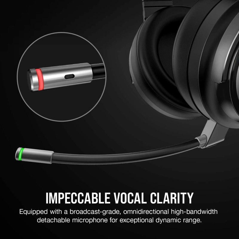 Corsair Virtuoso RGB Wireless Gaming Headset - High-Fidelity 7.1 Surround Sound