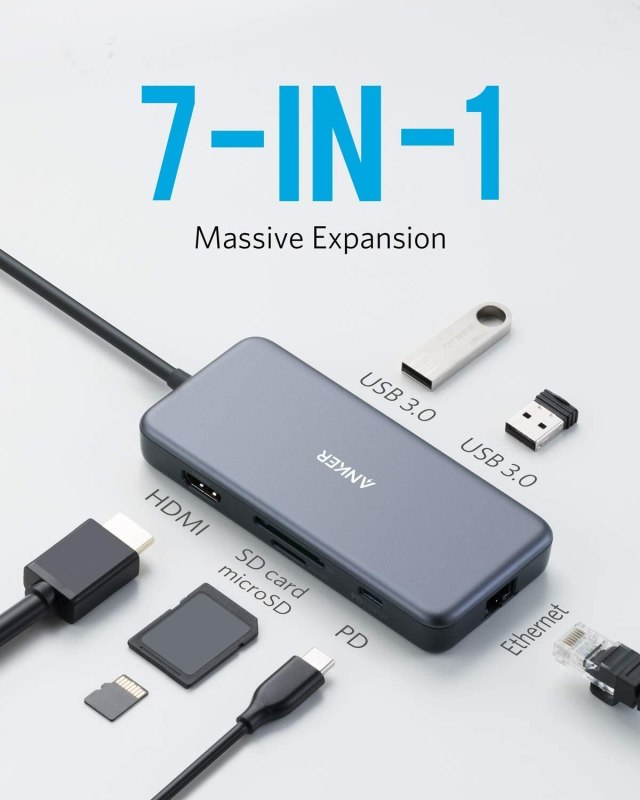Anker PowerExpand+ 7-in-1 USB-C Ethernet Hub