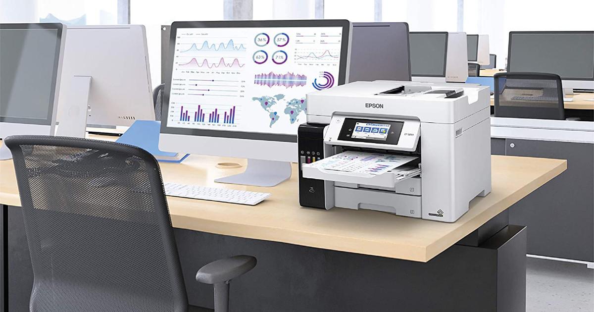 Epson EcoTank Pro ET-5850 Wireless Color All-in-One Supertank Printer