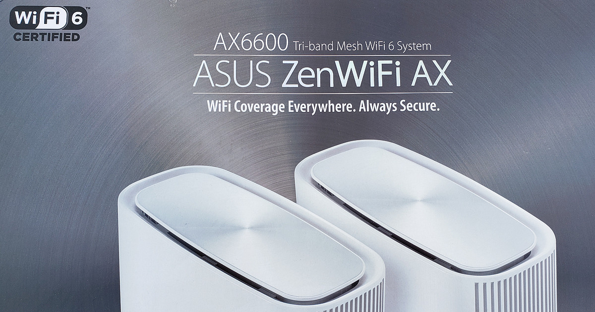 ASUS ZenWiFi AX Whole-Home Tri-Band Mesh WiFi 6 System (XT8)