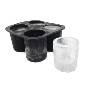 Silicone Shot Glass Mold for Resin & Frozen Whiskey Glass Ice Cubes Ice Tray