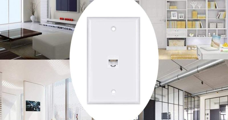 Cat6 Ethernet Cable Wall Plate