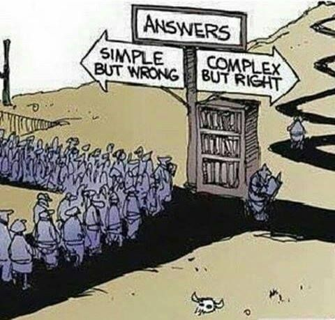 Answers Complex Right Simple Wrong