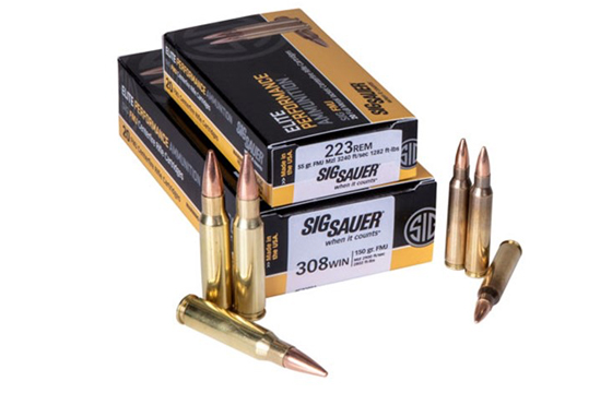 SIG Sauer Adds .223 Rem. and .308 Win. SIG FMJ Rifle Ammo