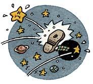 Buracos negros são capazes de ejetar estrelas da galáxia (Figura do NY Times).