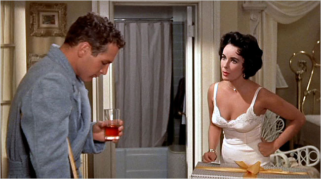 Elizabeth Taylor and Paul Newman