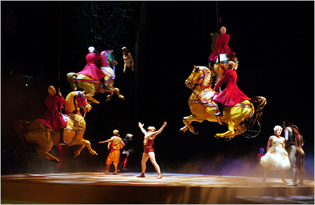 Cirque du Soliel's 'O'. One of six shows to watch in Las Vegas.