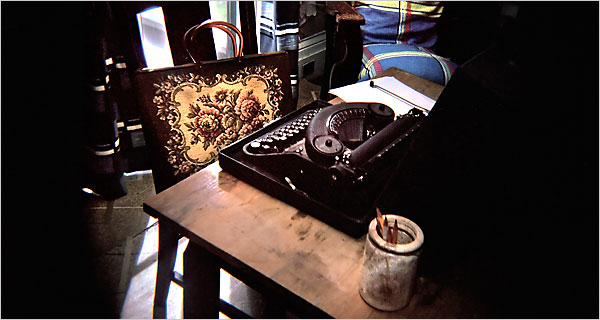 Flannery O'Connor's typewriter at her farm Andalusia, near Milledgeville, GA - NY Times photo