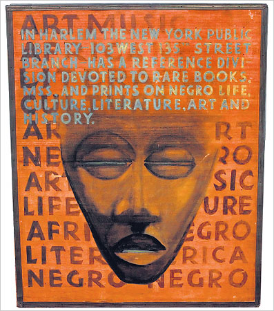 A 1925 sign from the New York Public Library's Negro division.