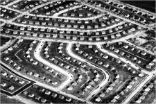 A view of Levittown, N.Y., in 1948, shortly after the mass-produced suburb was completed on Long Island farmland.