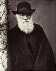 Charles Darwin on a smoke break