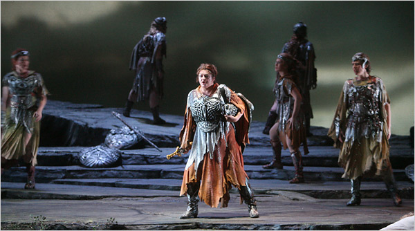 Brünnhilde and the Valkyries (image from a spectacular performance BTW)