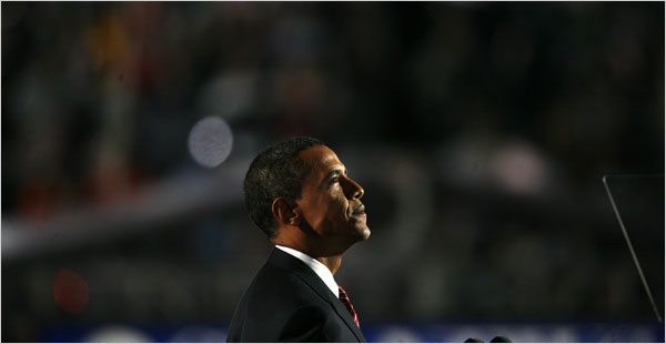 Senator Barack Obama accepted the presidential nomination on Thursday night in Denver.  (NYT)