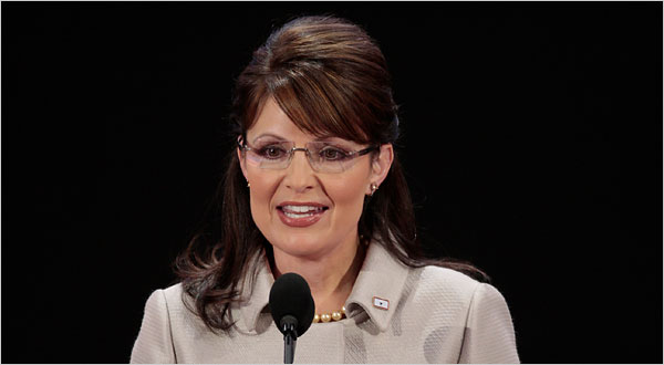 Gov. Sarah Palin of Alaska spoke at the convention in St. Paul on Wednesday.  (NYT)