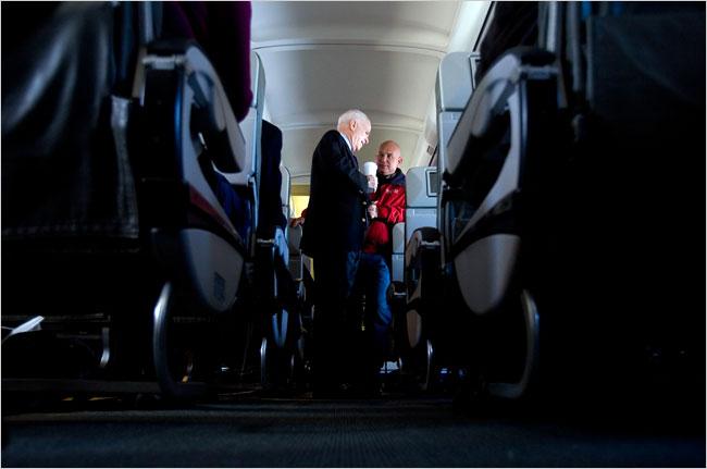 Senator McCain with Steve Schmidt