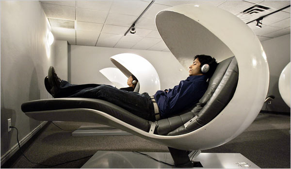 Check out these new EnergyPods- napping on the job has never been more comfortable!