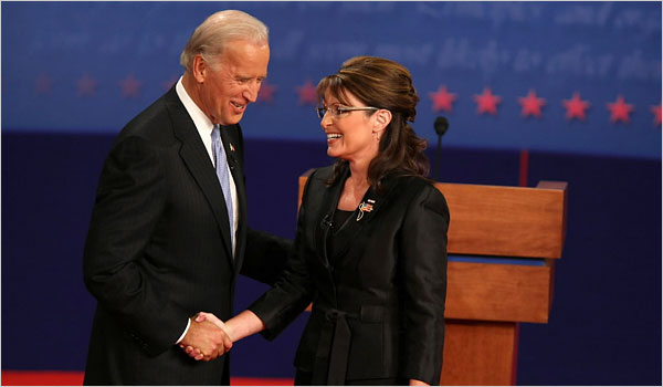 [Picture of Biden and Palin shaking hands.]
