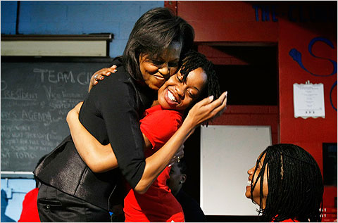 Michelle Obama hopes to inspire in celebration of Womens History Month