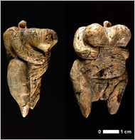 Side and front views of the Venus of Hohle Fels