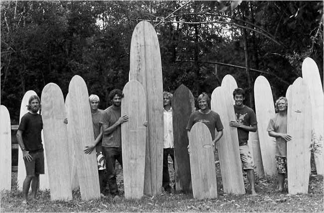 An Australian, Tom Wegener, third from right, helped revive the alaia. Photo by Thomas Campbell for NY Times