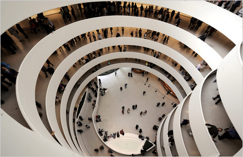 "On Saturdays from 5:45 p.m. to 7:45 p.m., admission to the Guggenheim Museum is ""pay what you wish."""