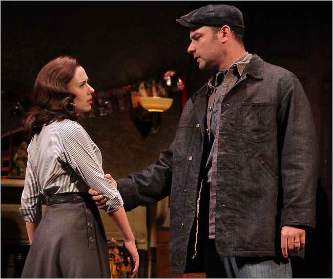 """Scarlett Johansson and Liev Schreiber in the Broadway revival of Arthur Miller's """"A View From the Bridge."""""""