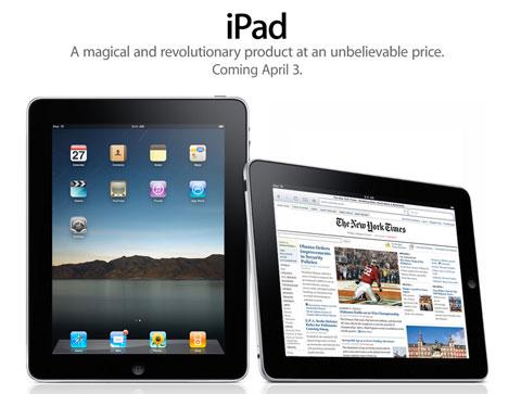 Apple iPad announcement