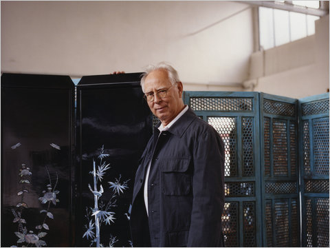 Sigmar Polke at his studio in 2007.