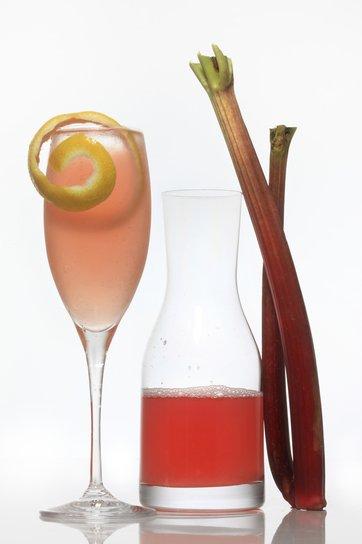 drinking rhubarb
