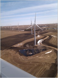A wind installation in Barnes County, N.D.
