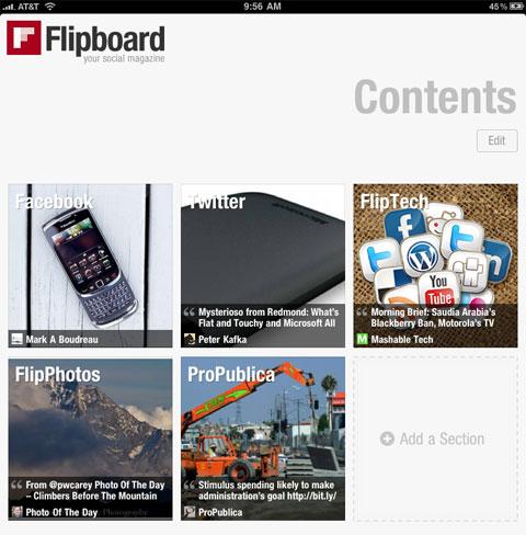 Flipboard for the iPad