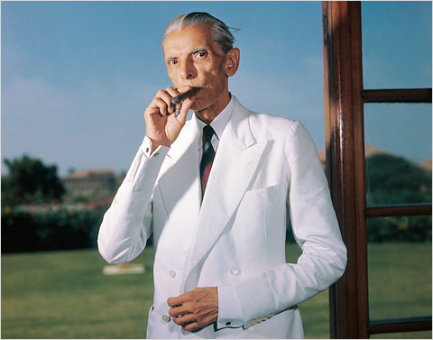 Mohammed Ali Jinnah, Pakistan's first leader, in the doorway of his study in Karachi in September, 1947, just weeks after the new country was formed.