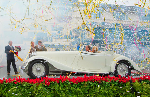 A 1933 Delage D8S De Villars Roadster from the Patterson Collection in Louisville, Ky, was named Best of Show at the Pebble Beach Concours d'Elegance.