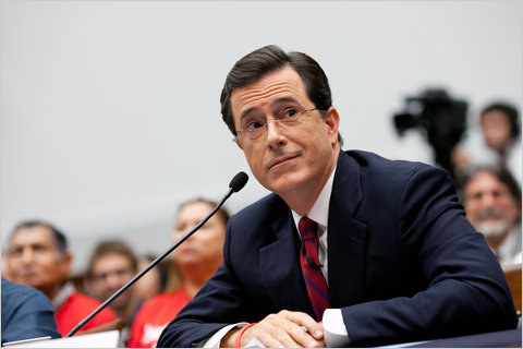"Stephen Colbert, of Comedy Central's ""The Colbert Report,"" testified before a House subcommittee on the rights of migrant workers."