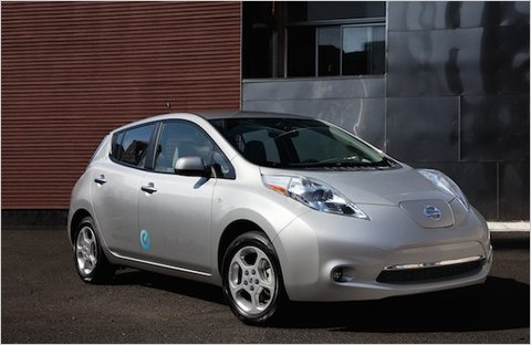 2011 Nissan Leaf electric car.