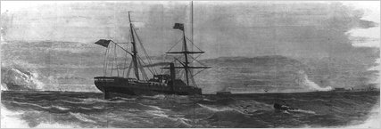 """The <i>Star of the West</i> enters Charleston Harbor, from <i>Frank Leslie's Illustrated Newspaper</i>."""" /><span class="""