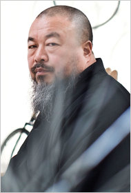 Ai Weiwei in his Beijing studio on March 7.