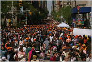 Thousands at the festival near Madison Square Park. (Photo: NY Times)