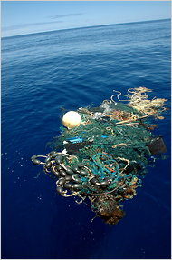 A patch of garbage in the Pacific observed by the researchers in 2009.