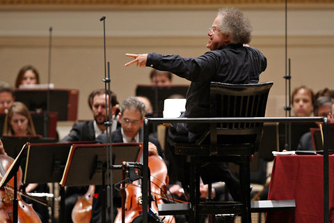 James Levine, Metropolitan Orchestra Music Director and Conductor at Carnegie Hall April 2011.