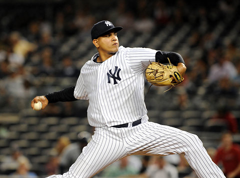 Dellin Betances earlier this month.