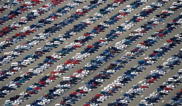 Sea of cars
