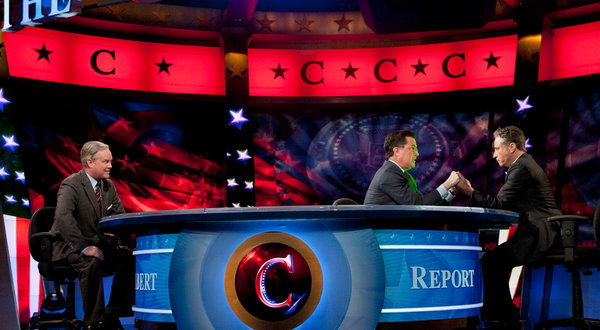 Stephen Colbert, Jon Stewart, Super PAC