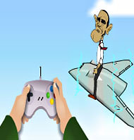 An Iranian cartoon mocking President Obama.