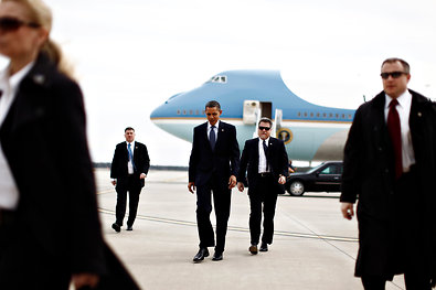 President Obama arrived at Richmond International Airport in Virginia on Friday. His job-approval rating has dropped as gas prices have risen and tensions with Iran have escalated.