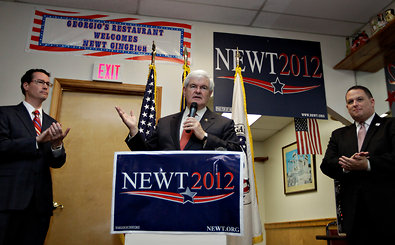 Newt Gingrich conceded that Mitt Romney would be the party's  nominee at an event on Wednesday in Cramerton, N.C.